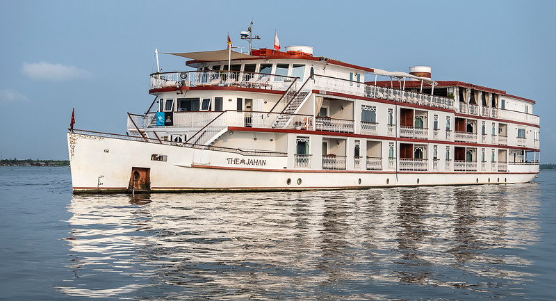 Boarding the Jahan for a Mekong River Cruise