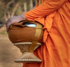 Buddhist Monk with Urn at Angkor Wat