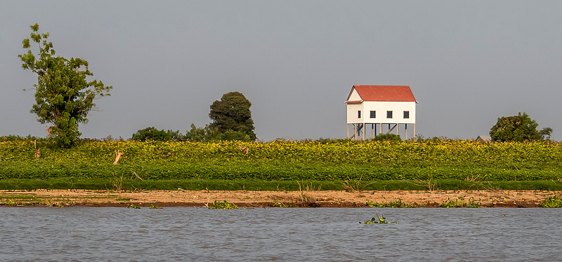 Mekong River Scenes - Cruising Toward Vietnam