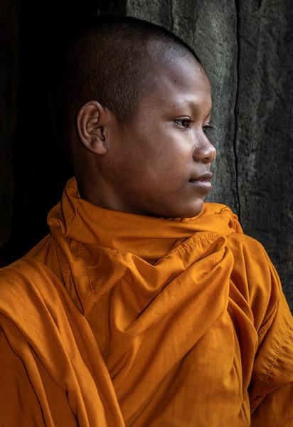 Buddhist Monk at Angkor Wat