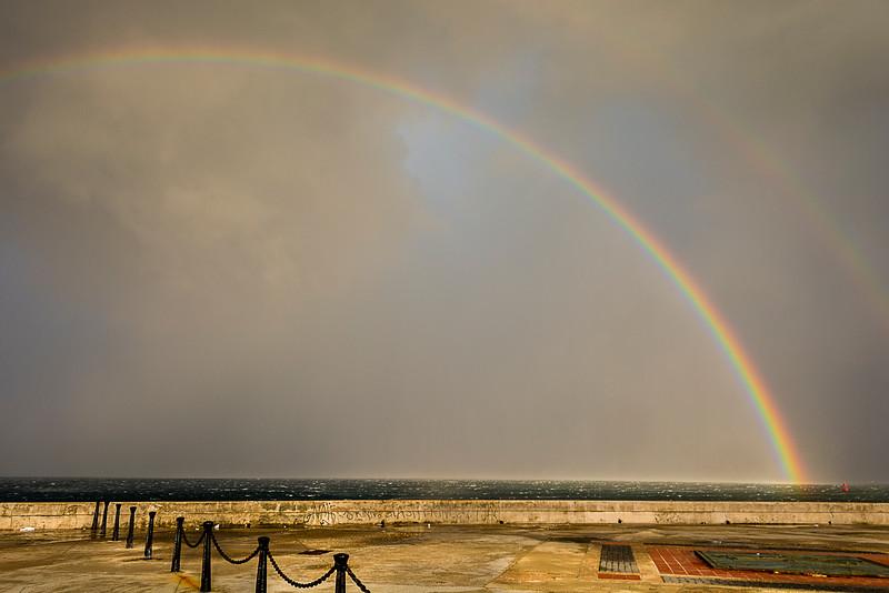 Double Rainbow near El Morro
