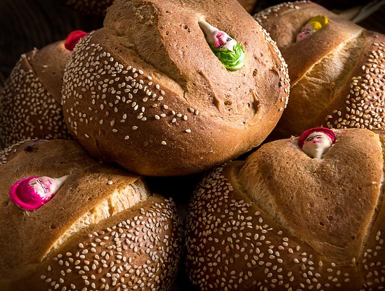 Pan de Muerto (Specialty Bread Prepared for Day of the Dead Celebration)