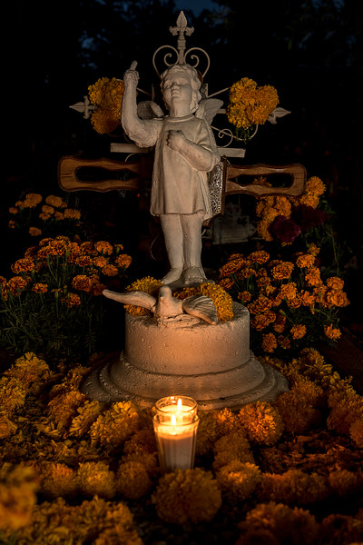 Oaxacan Cemetery - Day of the Dead Celebration