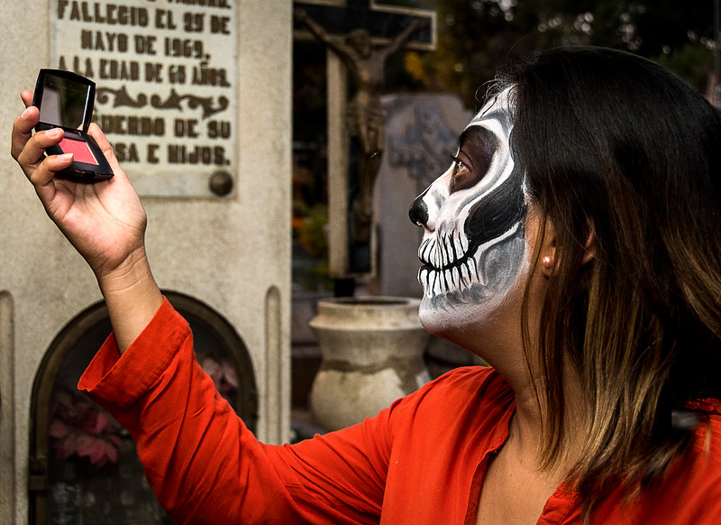 Face Painting in the Cemetery