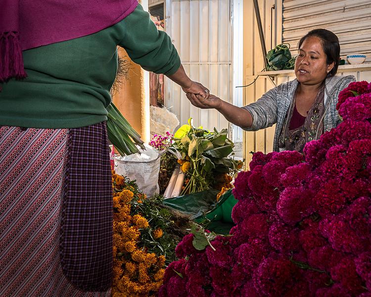 Market in Teotitlan del Valle, Oaxaca - Villagers Prepare for Day of the Dead Celebration