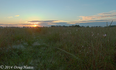 Sunrise over the Lawther-Deer Park Prairie Preserve