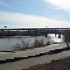 The Kansas River flowing from the west at Kaw Point.