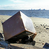 'washed up found treasure'.. with Atlantic City Casinos in the background