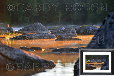 Lake rocks at sunrise framed M14_1995