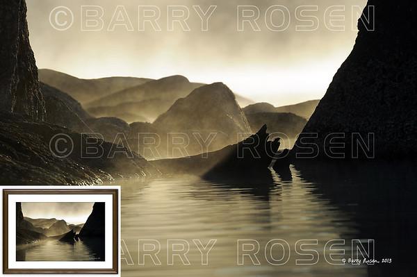 Lake Rocks at Sunrise M13_3424 framed