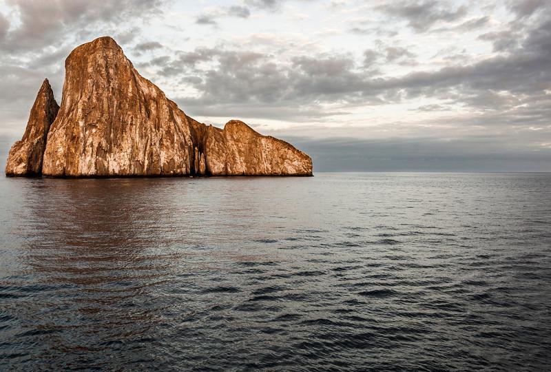 Circumnavigating Kicker Rock at Sunrise