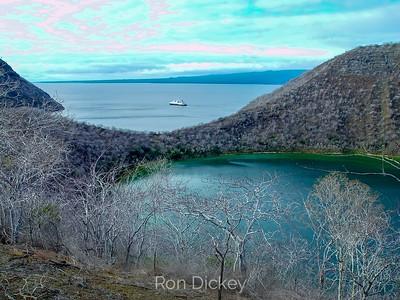 Darwin Lake on Isabela Island