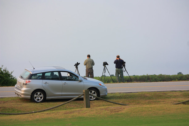 Pro photogs across the road from where I fish and the Golf Lake shooting out over the Intracoastal Waterway (ICW)