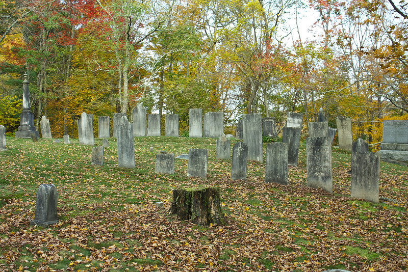 Located on a hill in the forest, this graveyard is both beautiful and lonely.