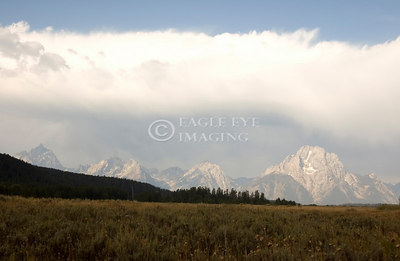 A storm develops over the Grand Tetons