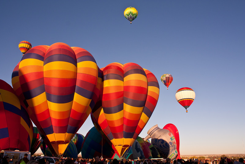 The morning sun now cast its early glow upon the balloons.