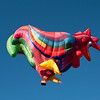 The specialty balloons are magnificent works of art.  They are large and difficult to inflate and fly.  The chicken is comical.  Because they are so large, they are sometimes hard to keep in the air.