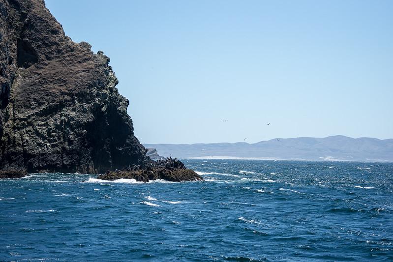 The western edge of Santa Cruz Island, looking towards Santa Rosa Island.