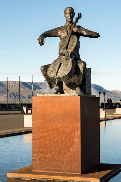 The Harpa Concert Hall Statue