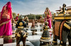 A Large-scale Chess Match in the Gardens at Jai Mahal Palace - Jaipur