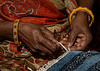 The Hands of a Carpet Maker in the Carpet and Textile House - Jaipur