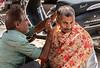 A Haircut on the Street at Sardar Market - Jodhpur