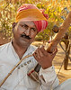 Musician at the Entrance to Jaswant Thada - Memorial to Maharaja Jasant Singh II - Jodhpur