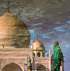 Reflections in a Pool at the Taj Mahal at Sunrise