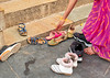 Removing Shoes Prior to Entering the Temple - Chittaurgarh