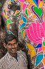 Painted Elephant in Celebration of Holi - Palace of the Winds Market - Jaipur