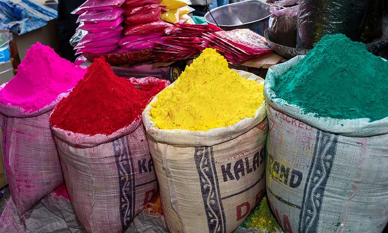 Preparing for the Holi Festival - Chandni Chowk Market - Old Delhi
