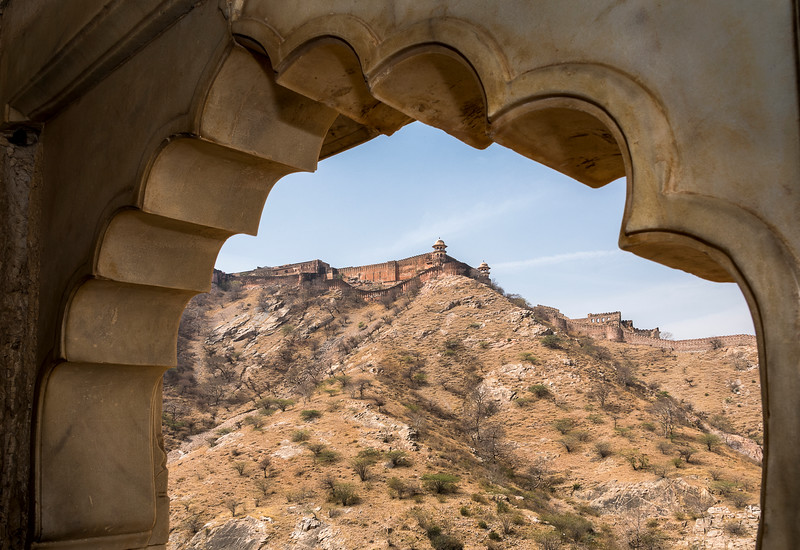Amer (AKA Amber) Fort as seen from Amer Palace
