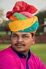Indian Man in the Gardens at Jai Mahal Palace - Jaipur