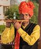Musician in the  Gardens at Jai Mahal Palace - Jaipur
