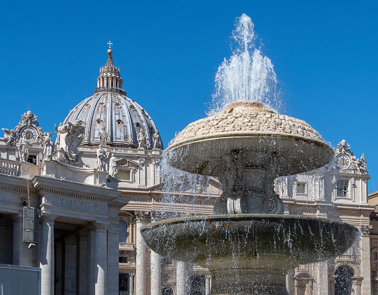 Fountain in St. Peter's Square - Vatican City