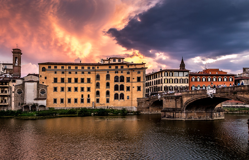 Sunset at the Arno River - Florence