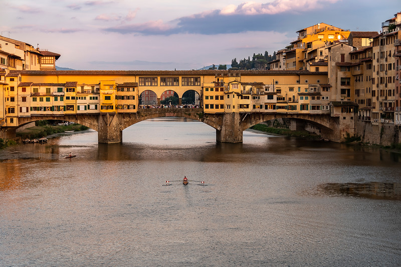Sunset at the Arno River & Ponte Vecchio - Florence