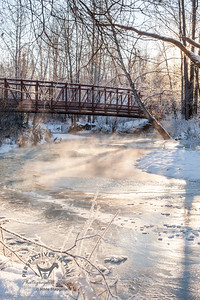 Anchorage - Far North Bicentennial Park at bridge in winter