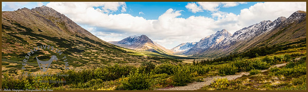 Anchorage - Powerline pass to Indian - panorama