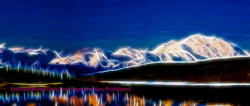 Mt Mckinley over wonder lake
