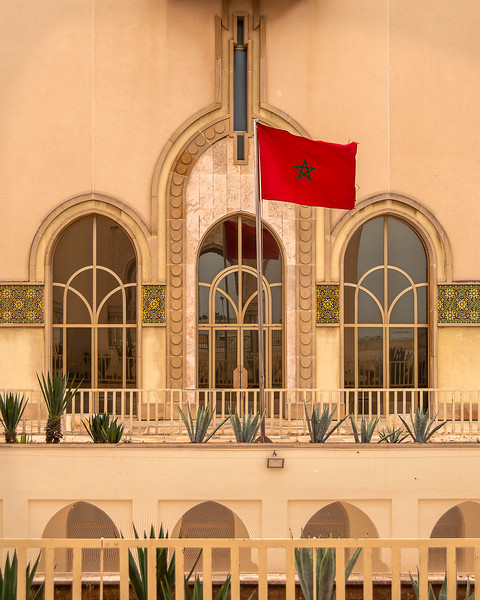 Welcome to Morocco! The Moroccan flag.