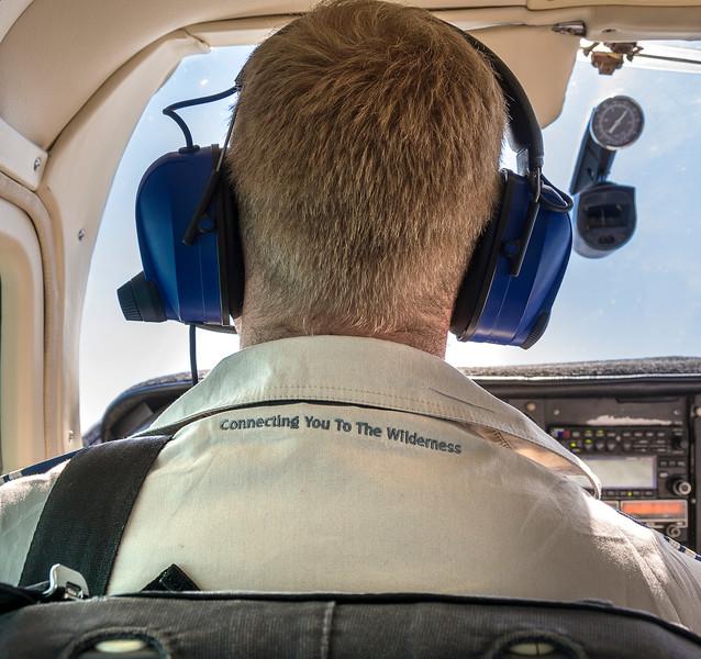 Wilderness Safari Pilot Gideon flying from Sossusvlei over the Skeleton Coast to Doro !Nawas in Damaraland