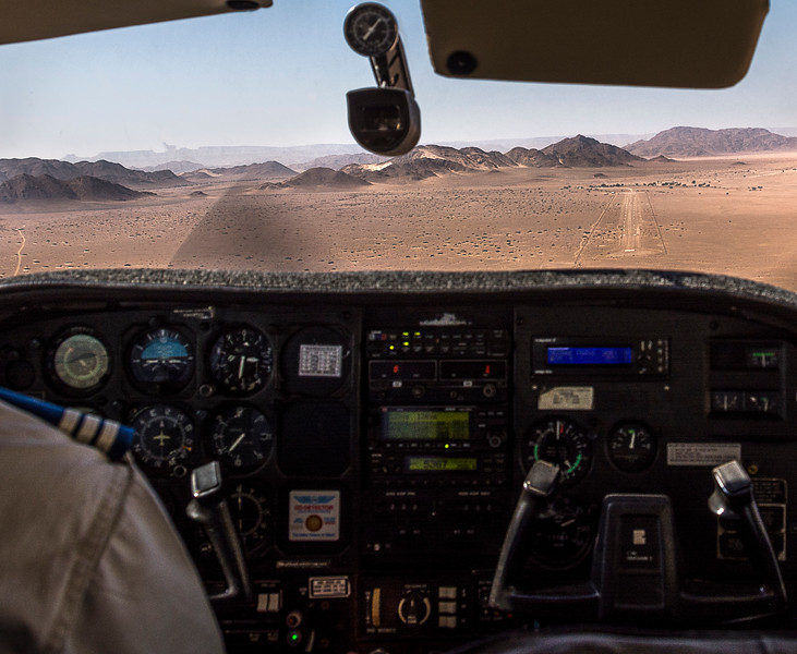 """Arriving at the Sossusvlei """"Airport"""""""