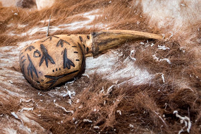 Tool used to refine goatskin