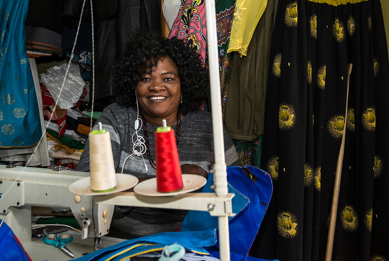 The Seamstress at Oshetu Community Market