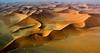 Flying over the dunes of Sossusvlei
