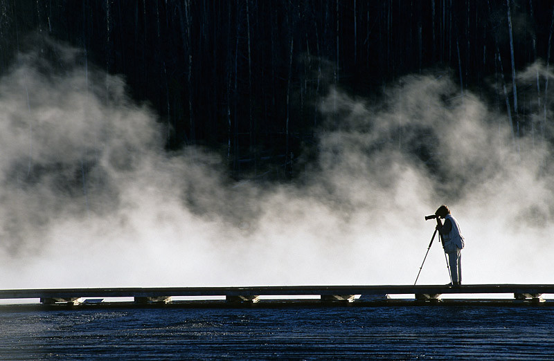 Hot Springs Photographer (Yellowstone)
