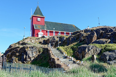 The imposing stair way up to the church in Sisimiut.