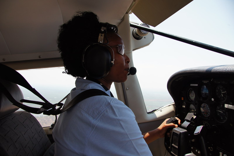 Our competent pilot to Kasane, on the border with Zimbabwe