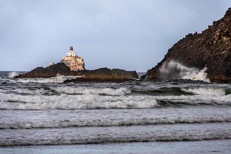 Indian Beach - Ecola State Park - Tillamock Rock Lighthouse - Oregon Coast